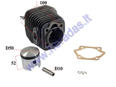 CYLINDER+PISTON SET FOR 100CC MOTORIZED BICYCLE D50