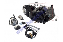 4-STROKE MOTORCYCLE ENGINE 125CC 4 GEARS AIR-COOLED. CHAIN TYPE 428 PLUNGER D54 1P52FMI