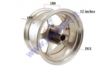 Rim front for  electric motorscooter  CITYCOCO ES8008 J12XMT7.0 12 inches. Tire 215/40-12