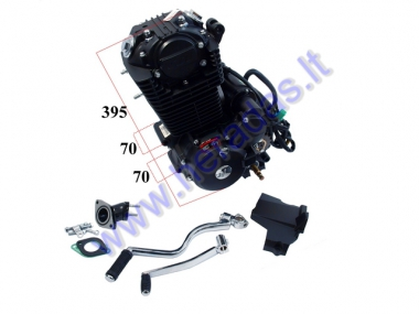Engine for motocycle Shineray four stroke 250cc 5 gears,Air cooled 169FMM