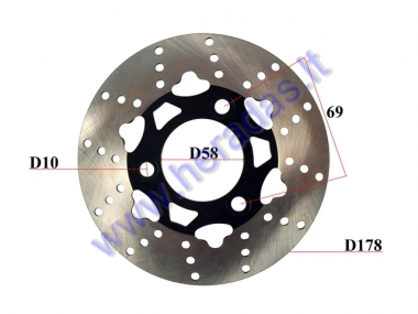 FRONT, REAR BRAKE DISC FOR ELECTRIC MOTOR SCOOTER FITS CITYCOCO ES8008