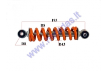 Shock absorber for 50cc motorcycle L195 spring diameter 8