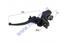 Left side brake lever with master cylinder for quad bike