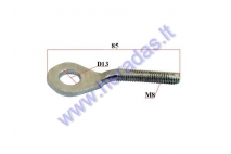 Axle adjuster/tensioner screw for motorcycle