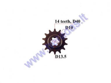 FRONT SPROCKET 14teeth OUTER D39 INNER D14 ATV Quad bike