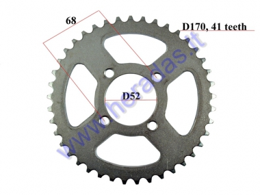 Rear sprocket for motocycle Outer D170 41 teeth 420 chain Inner D52