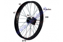 Front wheel for motocycle 19 inches  150-250cc