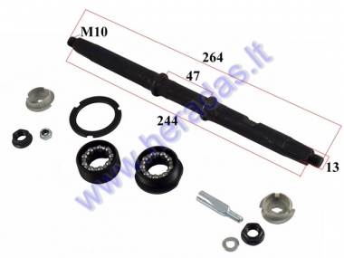 CRANKSET SPINDLE FOR BICYCLE L264 with BEARING