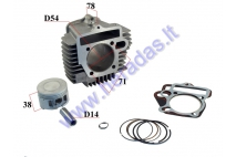 CYLINDER PISTON SET FOR 150cc LIFAN engine D56 PIN14