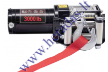 Electric winch, tow rope 12V 3.0hp / 2,2kw 12V Towing power: 1361kg (3000LB)