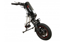Wheelchair trailer 350w. Designed to turn hand driven wheelchairs into self-propelled wheelchairs