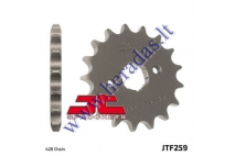 FRONT SPROCKET D out73, Din 20, 428 chain, 17 teeth