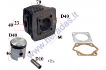 CYLINDER+PISTON SET FOR 50cc TWO STROKE D40