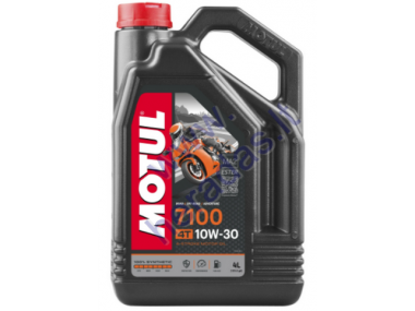 MOTOR OIL FOR 4-STROKE QUAD BIKE ENGINES MOTUL 7100 10W30 4L