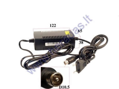 24V  LITHIUM-ION BATTERY CHARGER. SUITABLE FOR ELECTRIC SKATEBOARD, ELECTRIC BICYCLE, FOR OTHER ELECTRONIC DEVICES. CONNECTION RCA 29.4V 2A