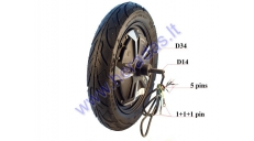 ELECTRIC MOTOR SCOOTER REAR TYRE WITH ENGINE 10 inches 48V 350W ROCKY