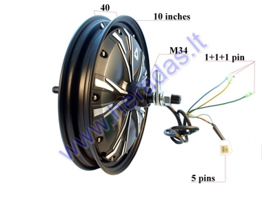 ELECTRIC MOTOR SCOOTER REAR RIM WITH ENGINE 10 INCHES 48V 400W AIRO