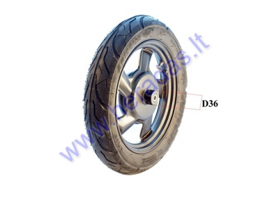 FRONT RIM WITH TYRE FOR ELECTRIC SCOOTER  ROCKY