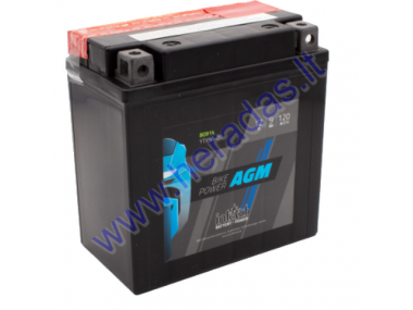 MOTORCYCLE BATTERY 12V 9AH 130A YTX9A-BS AGM 135X75X139MM INTACT