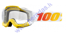 MOTORCYCLIST GOGGLES CLEAR LENS 100% Astra Clear