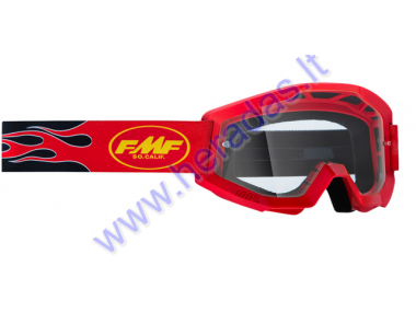 MOTORCYCLIST GOGGLES LENS FMF VISION GOGGLE CORE, Flame