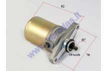 Starter motor 10 tooth D7 for scooter GY6 50-80cc