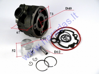 Cylinder piston set for scooter D40 50cc AM6