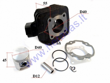 Cylinder piston set for scooter 2T  D40 50cc Peugeot Speedfight AC