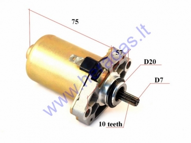 Starter motor 10 tooth D7 for 2T scooter
