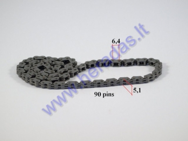 Timing chain for scooter 90 links