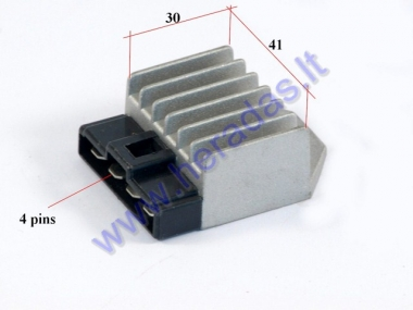 Voltage regulator rectifier for scooter