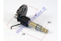 Kick start spindle for scooter L130 GY6