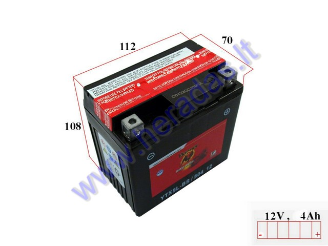battery 12v banner agm ytx5l bs. Black Bedroom Furniture Sets. Home Design Ideas