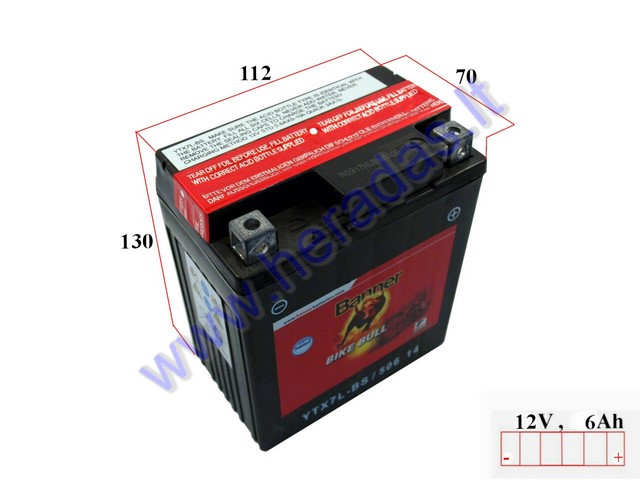 battery 12v banner agm ytx7l bs. Black Bedroom Furniture Sets. Home Design Ideas