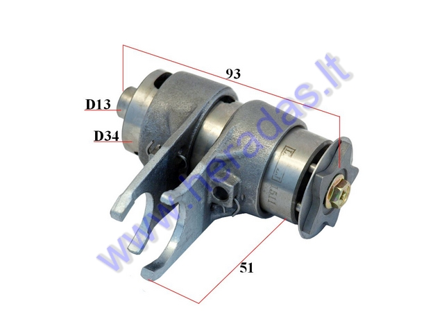 Gear selector drum and forks for 125-150cc motorcycle LIFAN