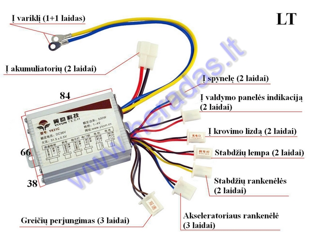 Controller For Electric Quad Bike 36v 500w 2 Speed