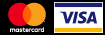 Payment by Visa and Mastercard cards